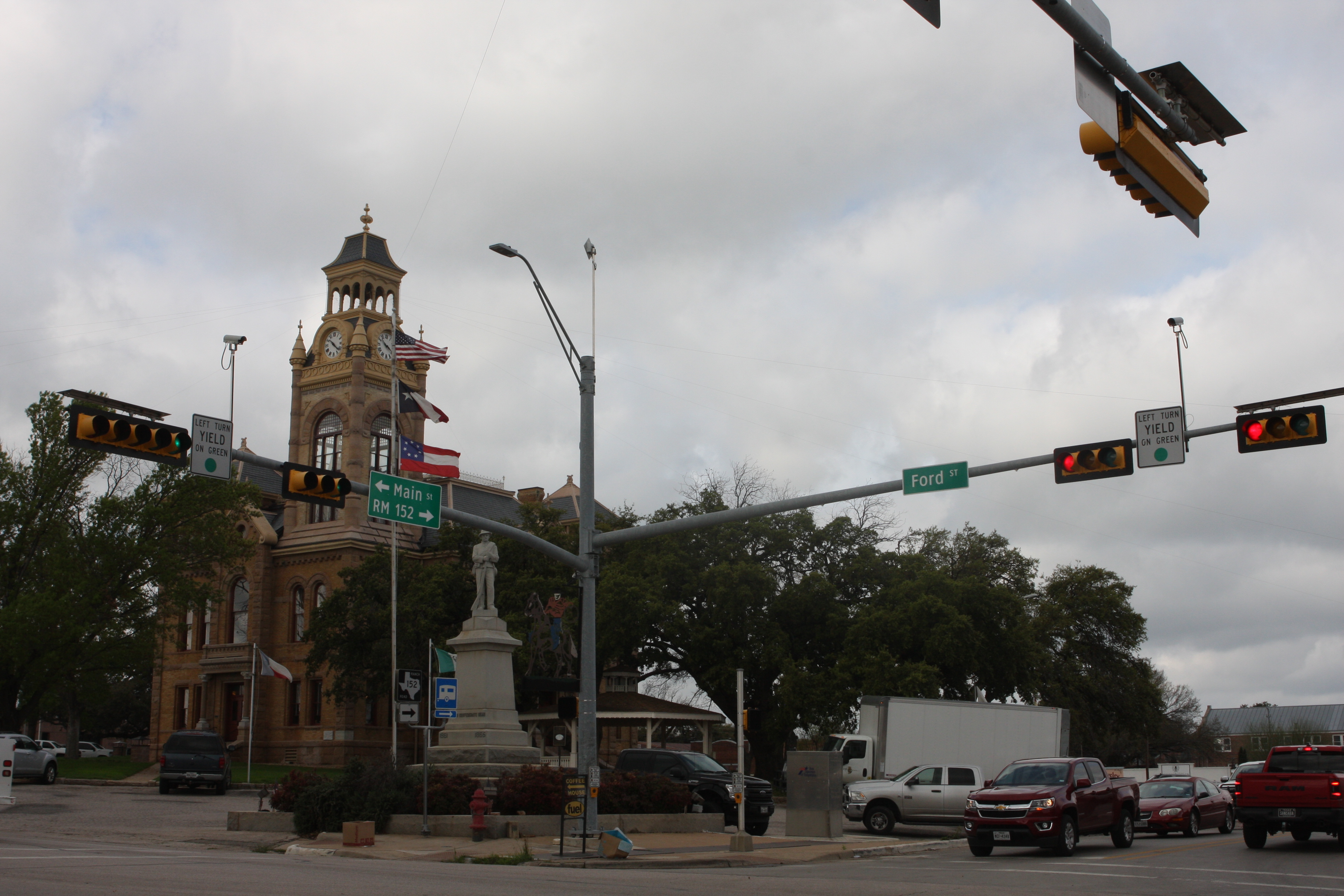 Main street in the town of Llano.