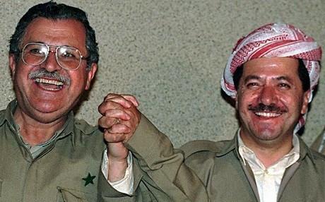 Jalal Talabani and Masoud Barzani