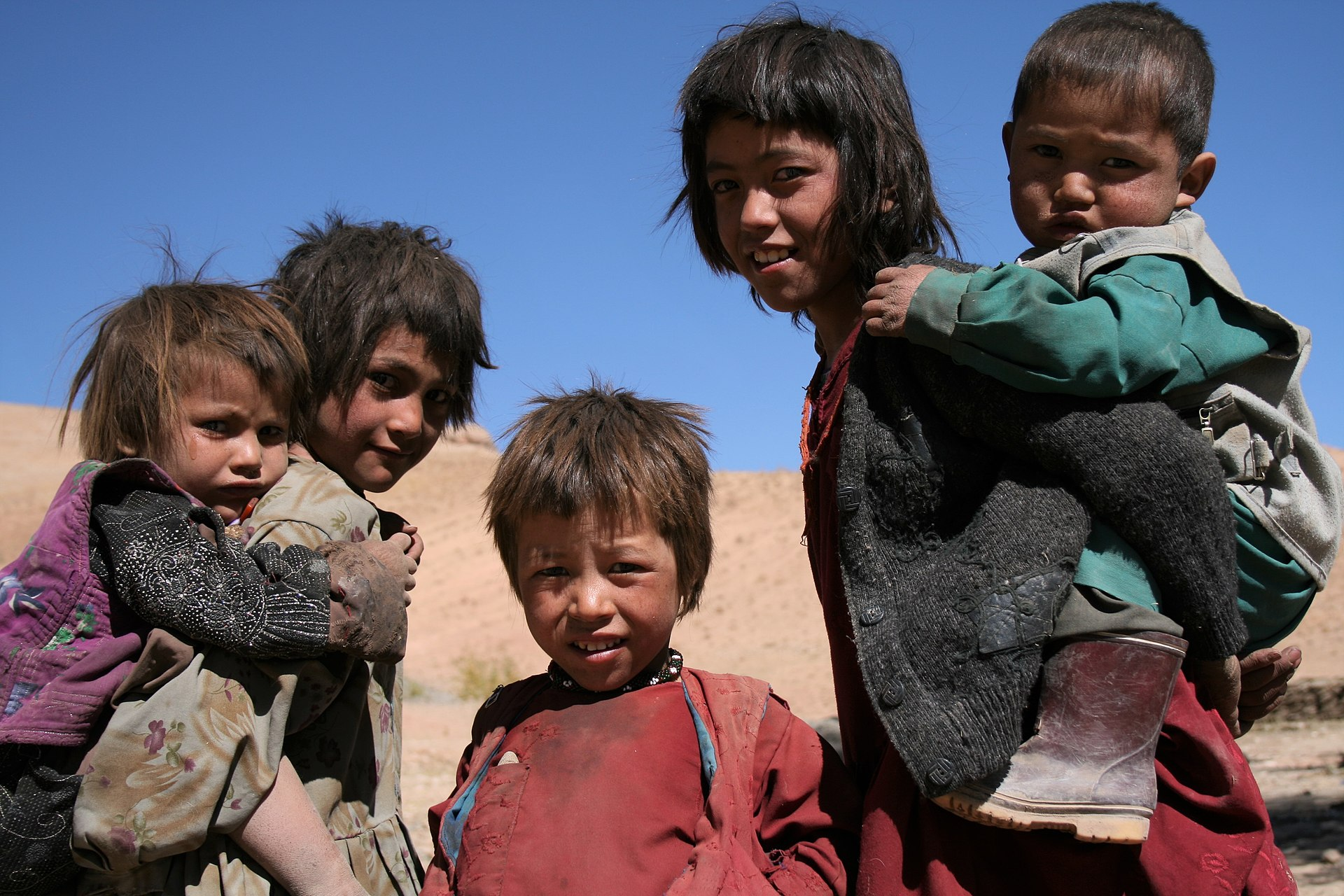 Hazara children in central Afghanistan
