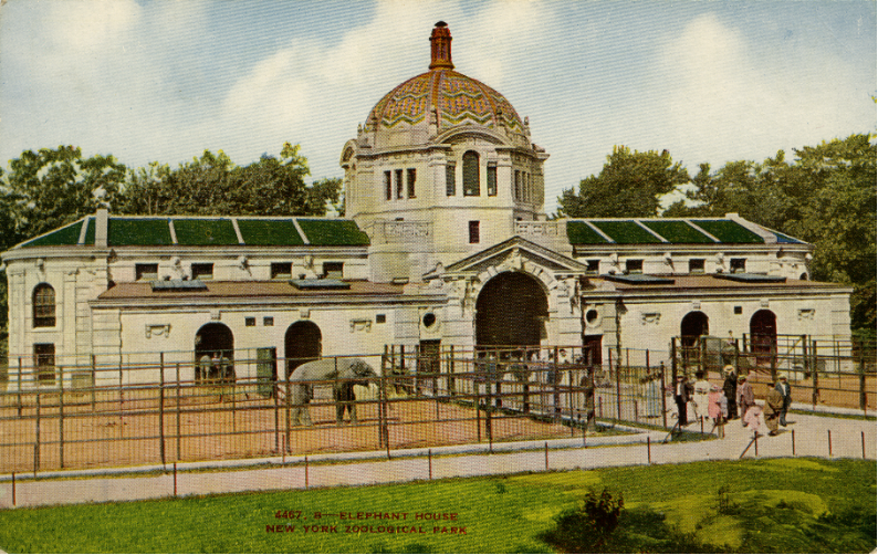 1908 Elephant House at the Bronx Zoo in New York