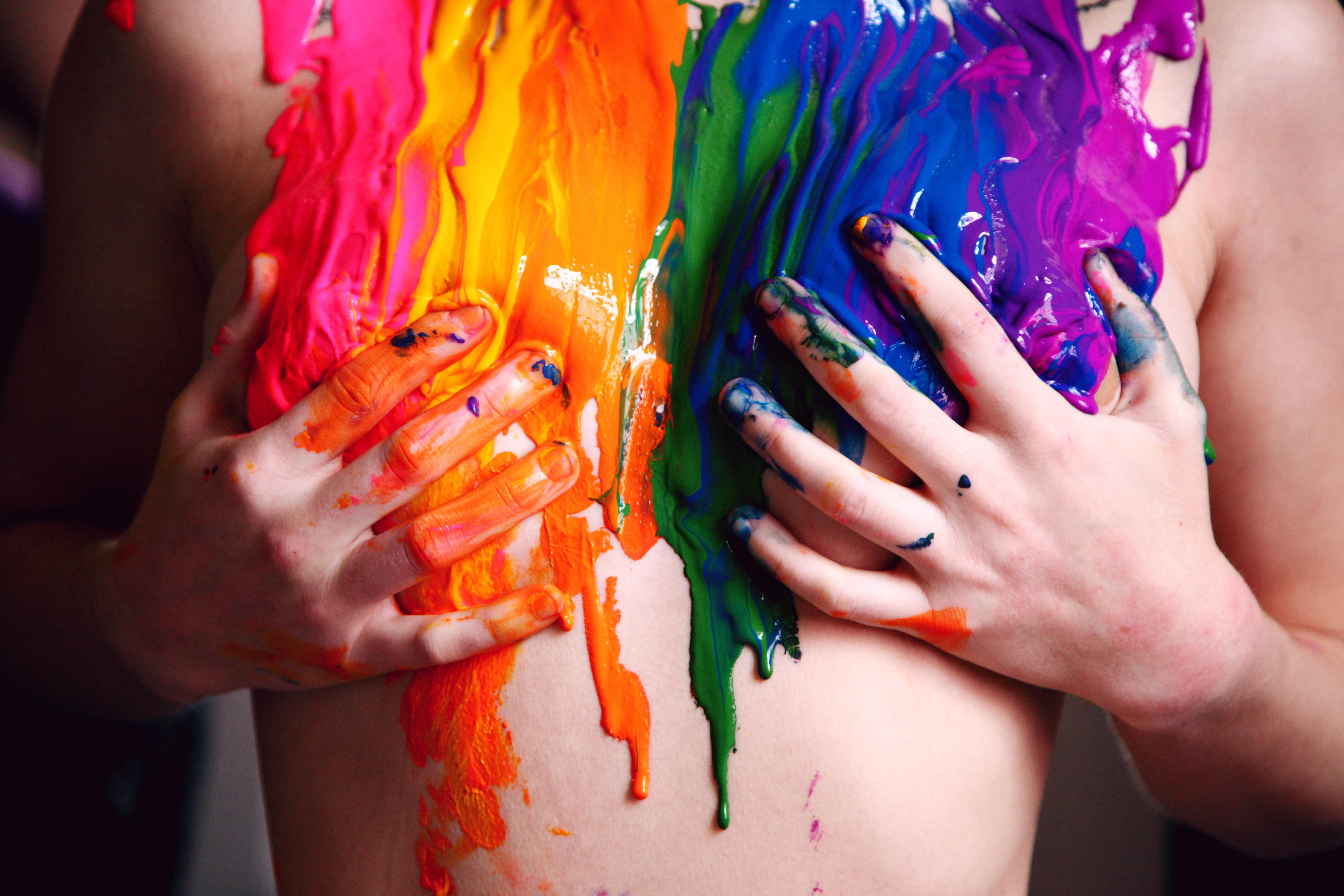 LGBTQ pride paint photoshoot
