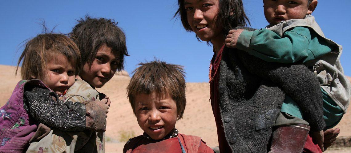 Hazara children in central Afghanistan