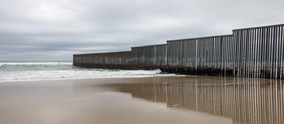 Wall Mexico-US border San Diego Tijuana