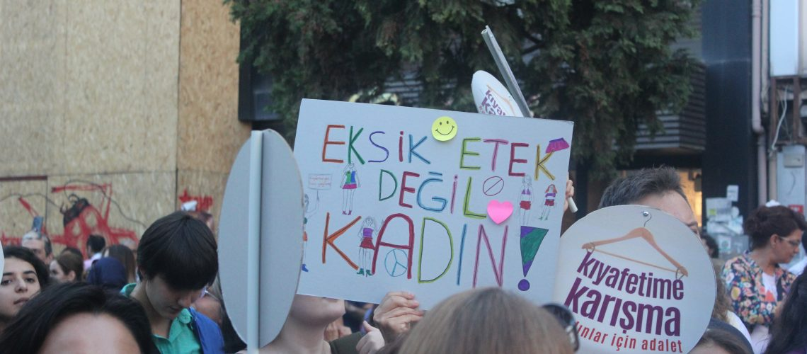 A poster from feminist protest in Turkey