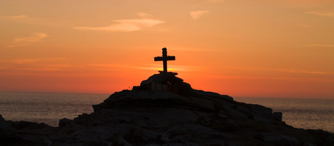 A Cross perched on the Cliffs of Malin Head